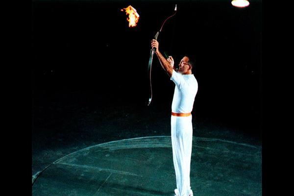 Momento de encendido de la antorcha olímpica de Barcelona 92