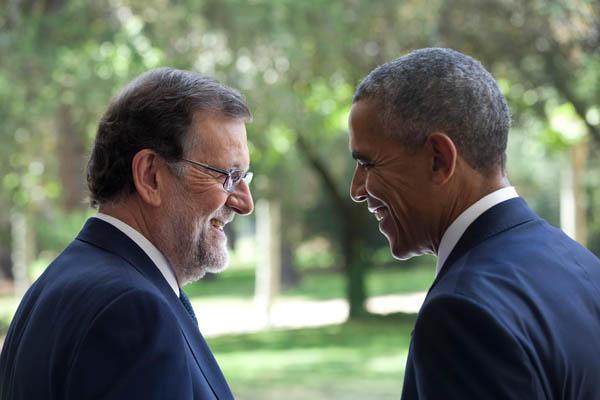 Rajoy se reúne con Obama en la Moncloa. Foto: PP