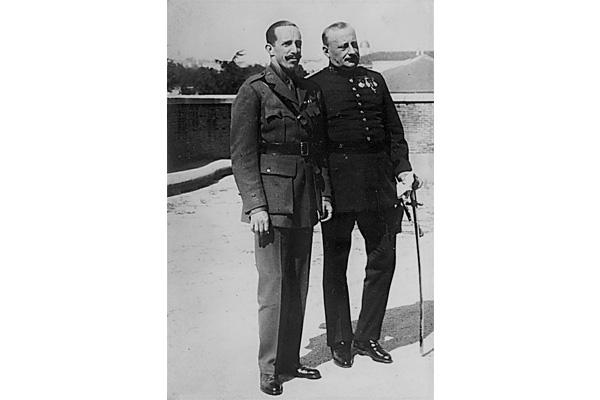 Alfonso XIII y el general Primo de Rivera.
